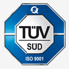 We are proud owner of the certificates TÜV SÜD ISO 9001